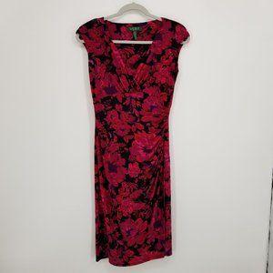 Ralph Lauren Floral Ruched Jersey Dress 2